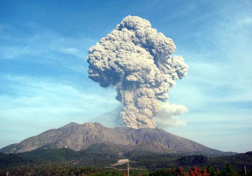 桜島噴火写真
