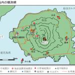 桜島島内の観測網